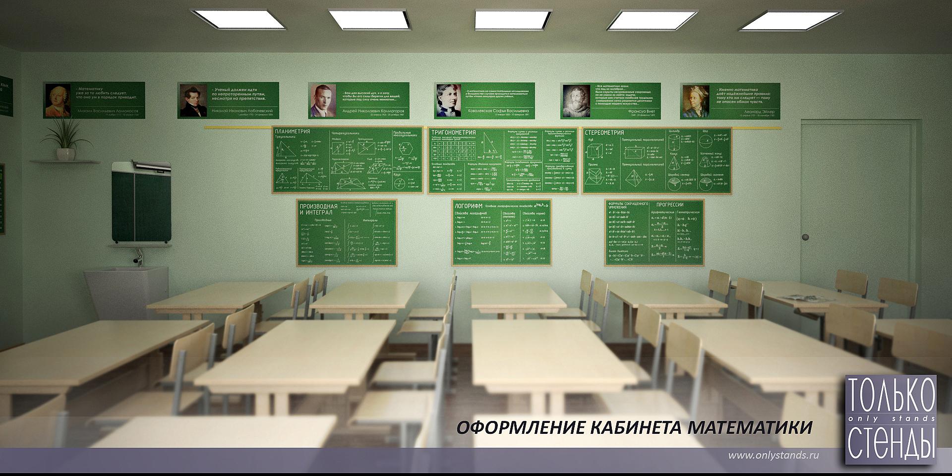 Как оформить кабинет математики в школе своими руками фото